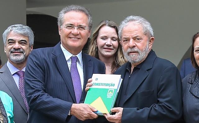 090/03/2016- Brasília- DF, Brasil- O ex-presidente Luiz Inácio Lula da Silva durante caf'w da manhã com o senador Renan Calheiros. Foto: Ricardo Stuckert/ Instituto Lula