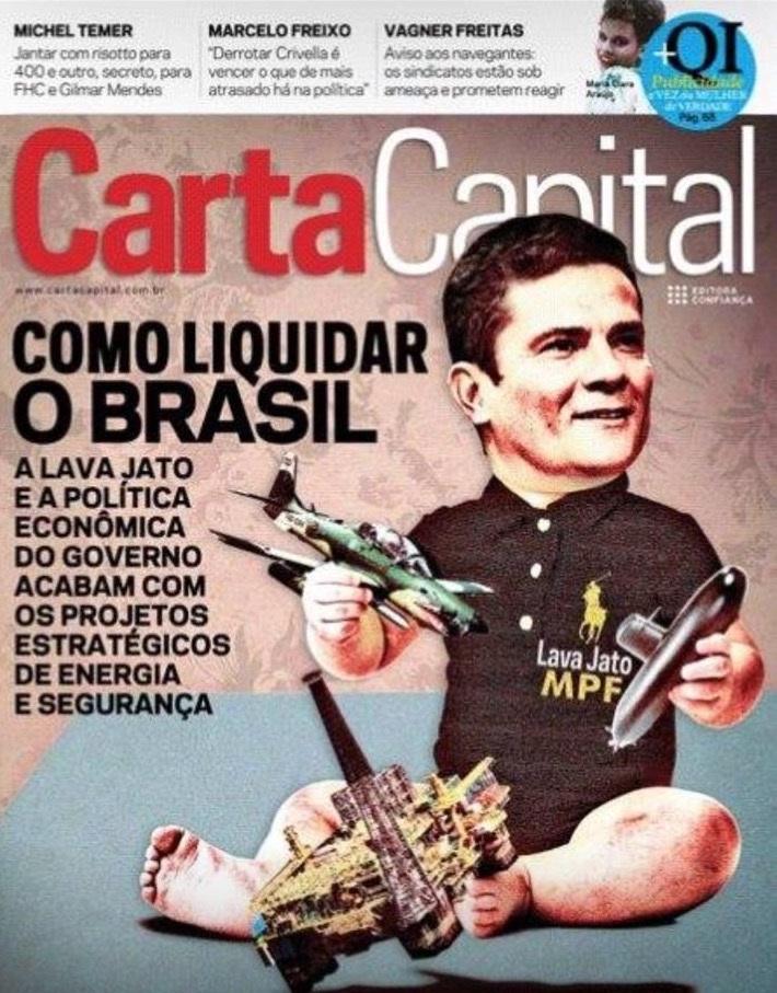 Resultado de imagem para capa da carta capital desta semana com Sérgio Moro